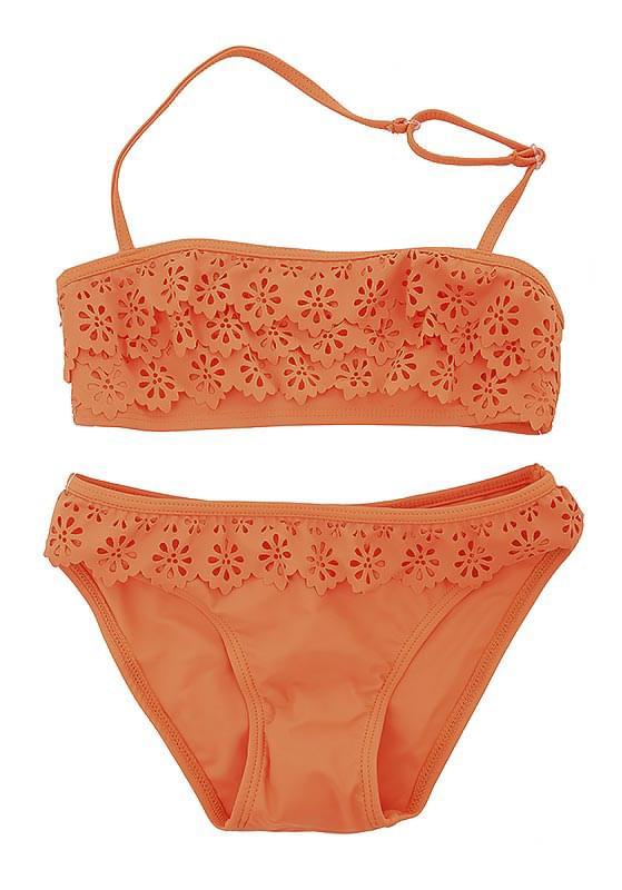 Dívčí dvoudílné plavky EleMar – neon orange - Skibi Kids 2b7f4104a3