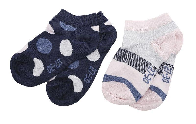 Dětské ponožky Melton Dots Stripes 2 páry – Deep Blue - Skibi Kids 3c5f4c52e9