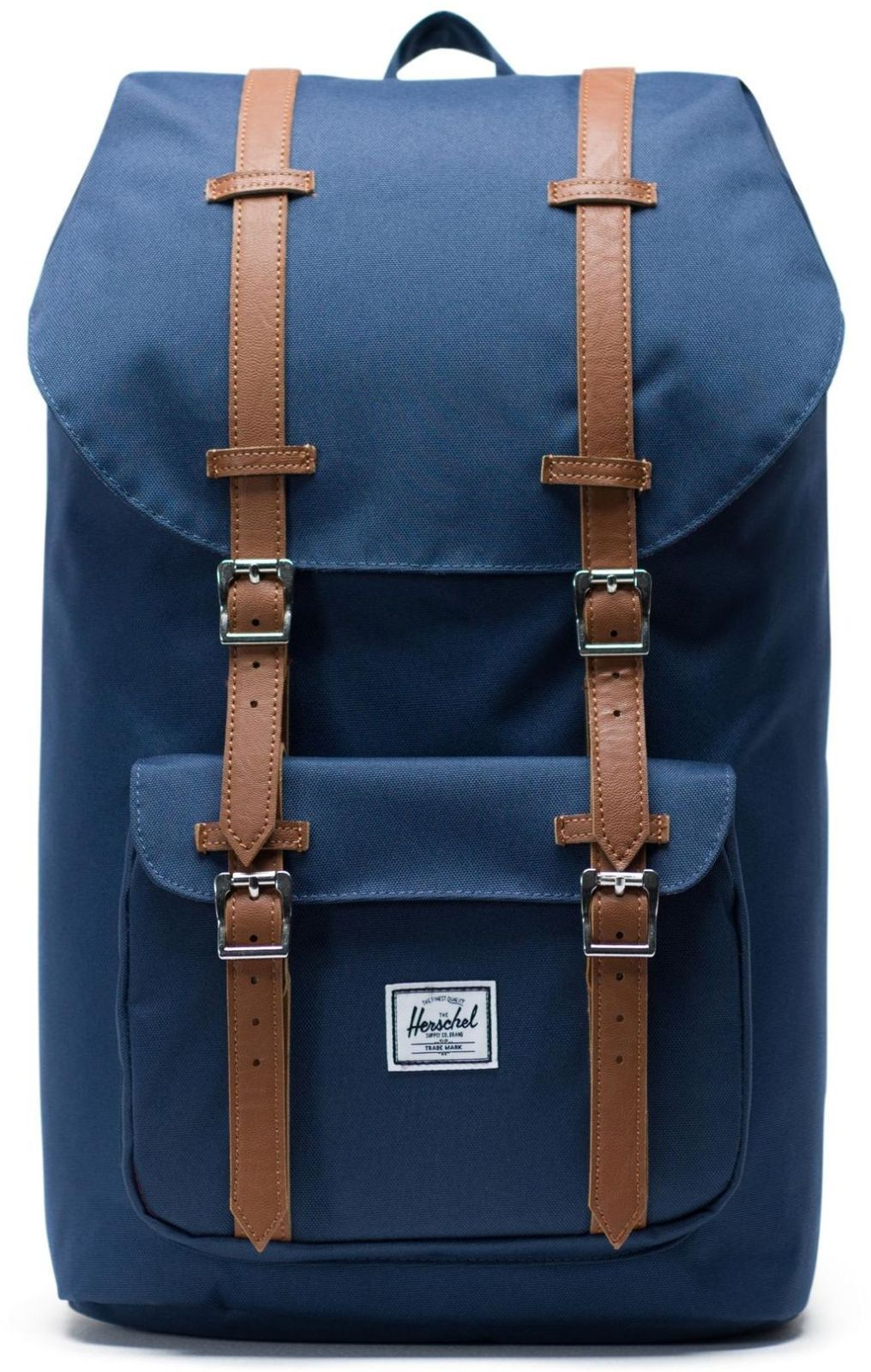 ea8b0029d9 Batoh Herschel Little America - navy tan synthetic leather - Skibi Kids
