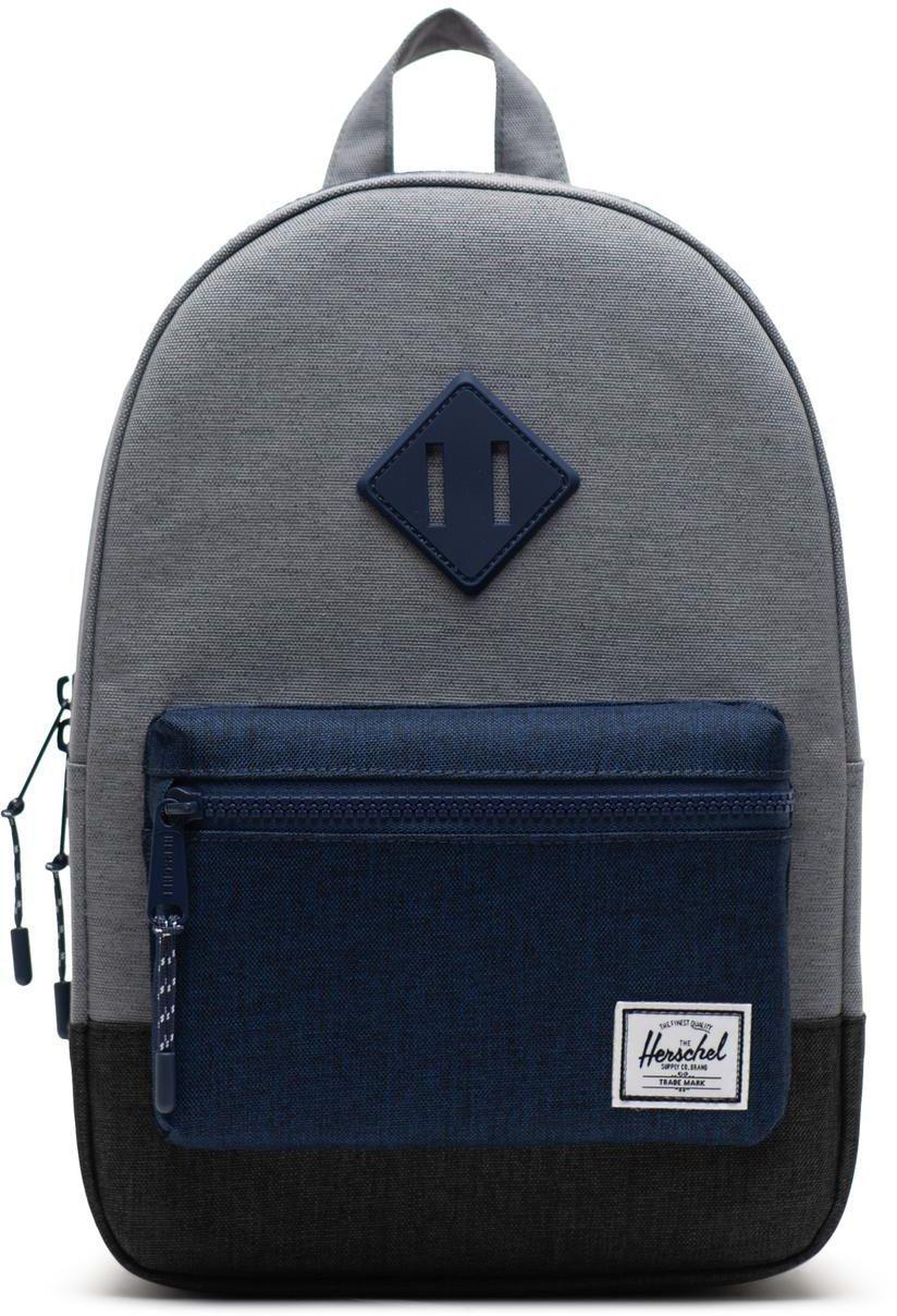 365175ab7c1 Dětský batoh Herschel Heritage Kids - mid grey crosshatch medieval blue  crosshatch black crosshatch