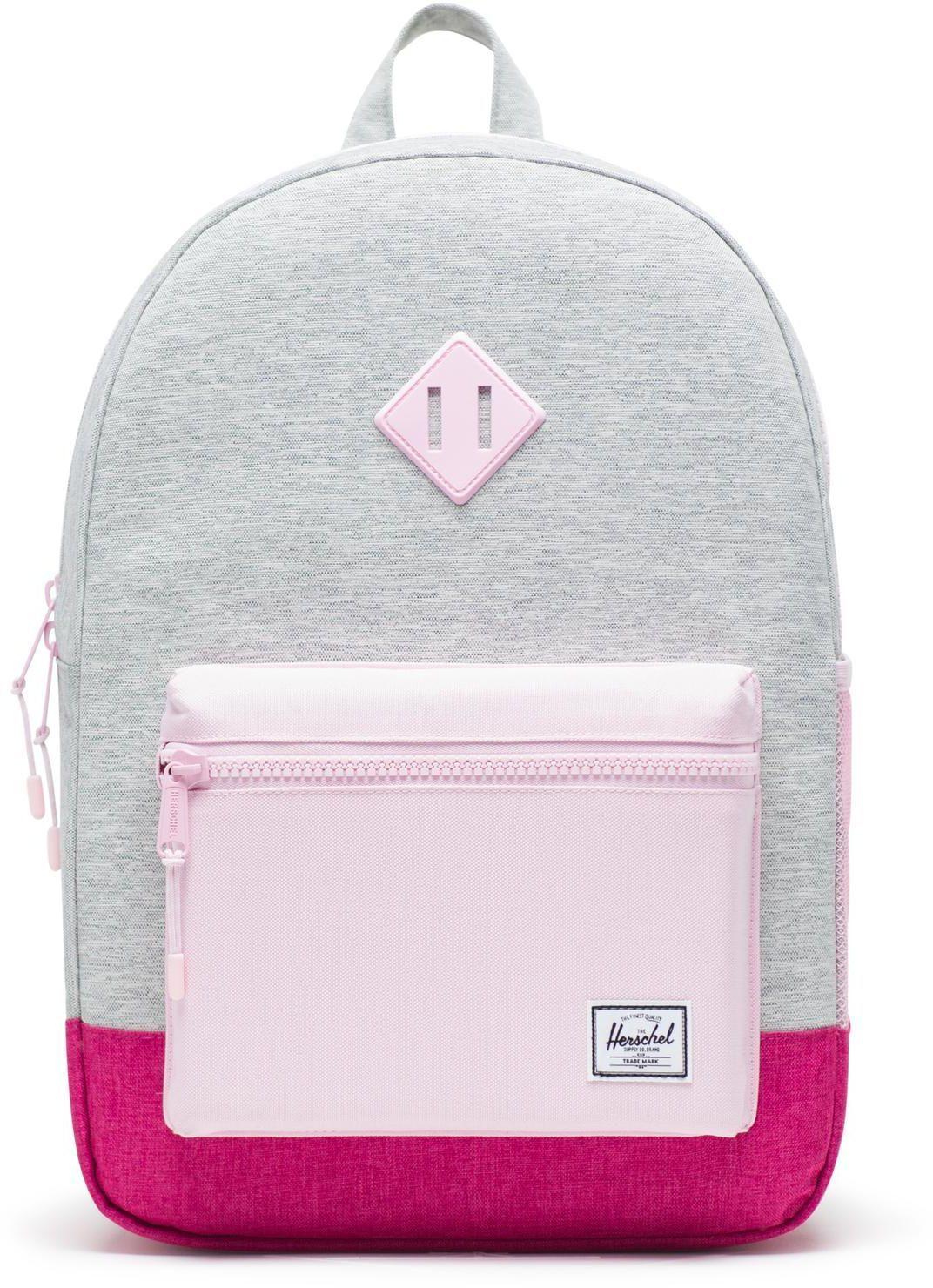 992f328203a Dětský batoh Herschel Heritage Youth XL - light grey crosshatch very berry  crosshatch pink