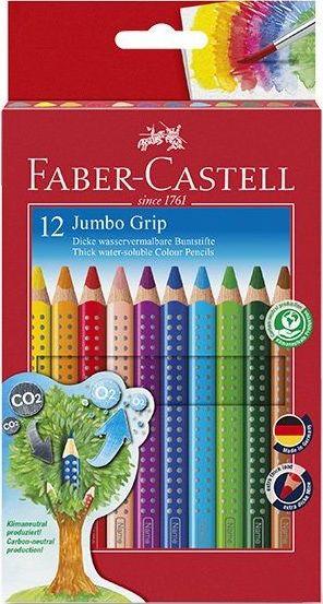Faber-Castell Pastelky trojboké Jumbo Grip rozmvytelné 12ks + ořez.
