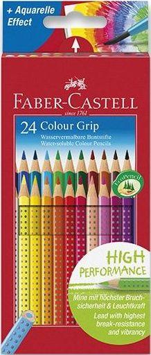 Faber-Castell Pastelky trojboké GRIP, rozmyvatelné - 24 ks
