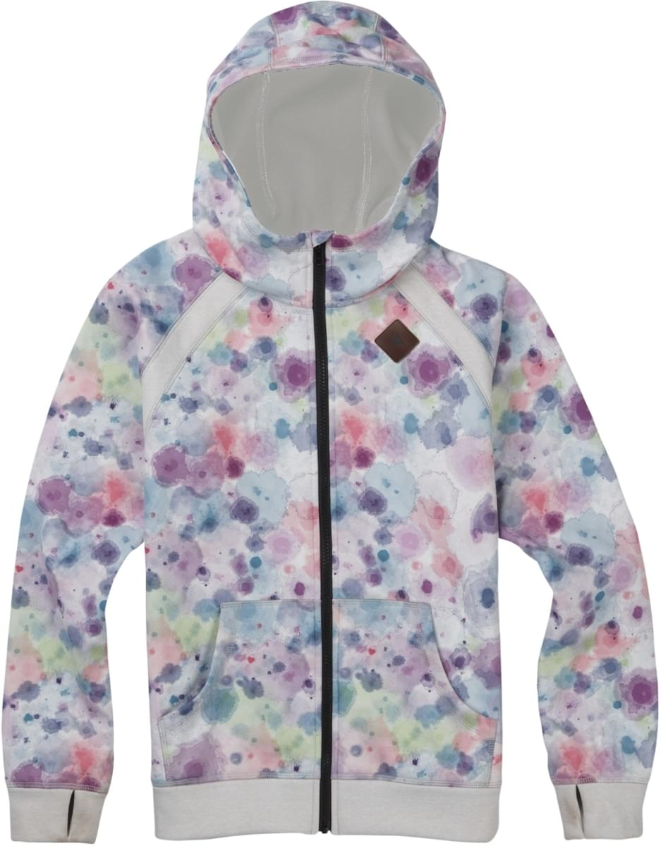 Dívčí zimní mikina Burton Girls Scoop Full-Zip - drip dye - Skibi Kids b1ccdd7418