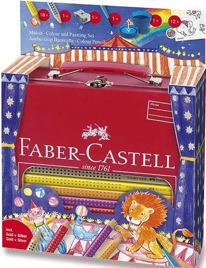 Faber-Castell Pastelky Jumbo Grip d.kufřík Cirkus 18ks
