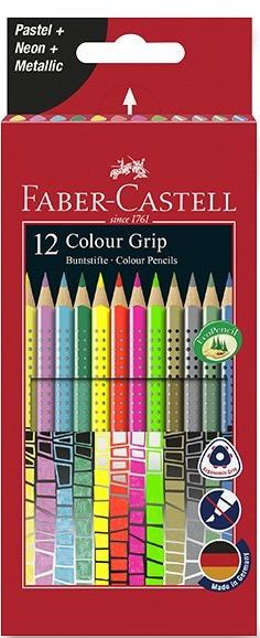 Faber-Castell Pastelky Grip Spec. edice, pap.krabička 12ks