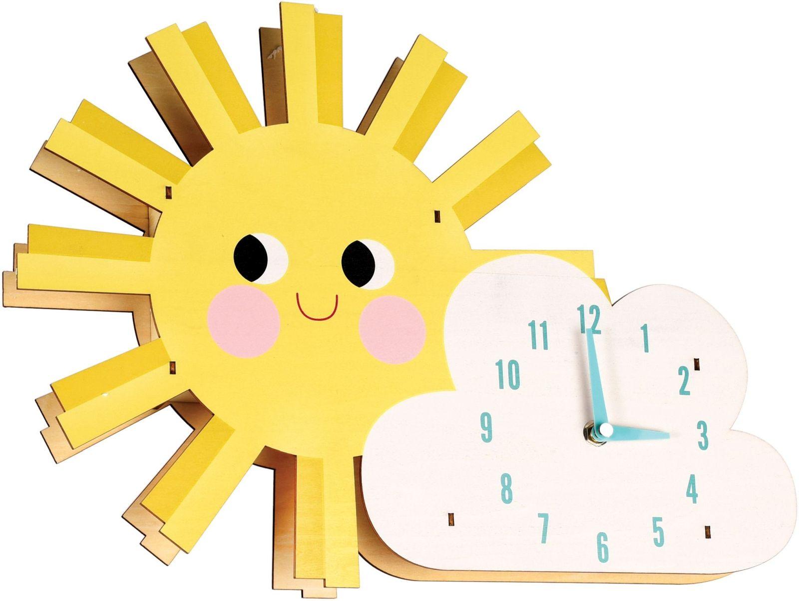 Dětské nástěnné hodiny - Hello Sunshine