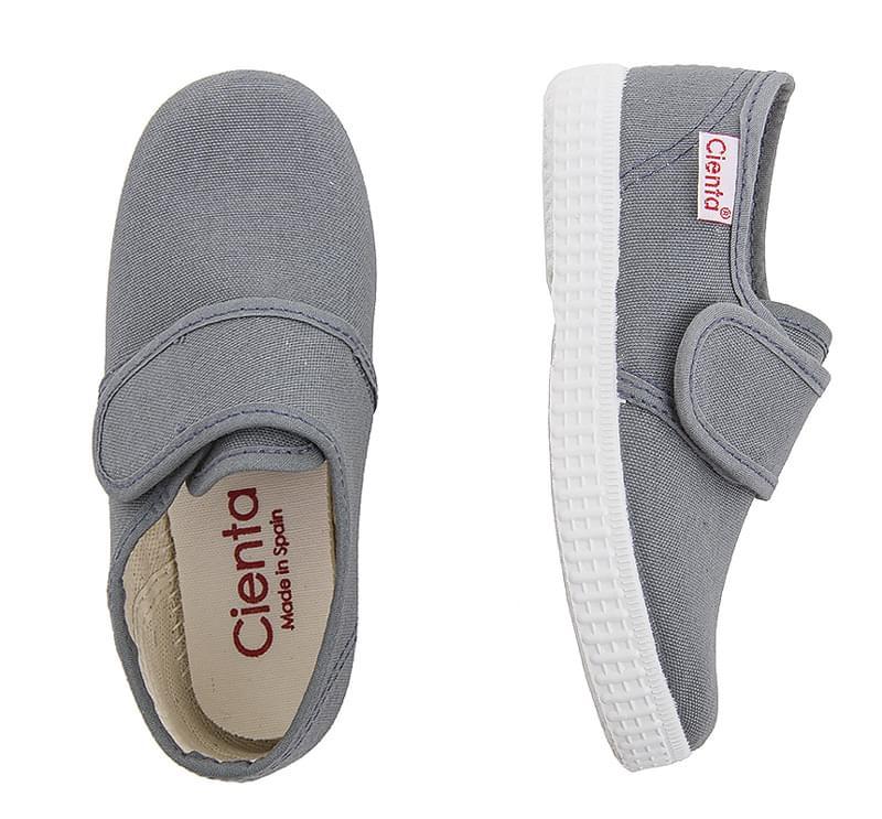 c1c60c4f3a Dětské botičky Cienta Blucher Velcro - gris. Světle šedé dětské letní  botičky se zapínáním na suchý zip ...