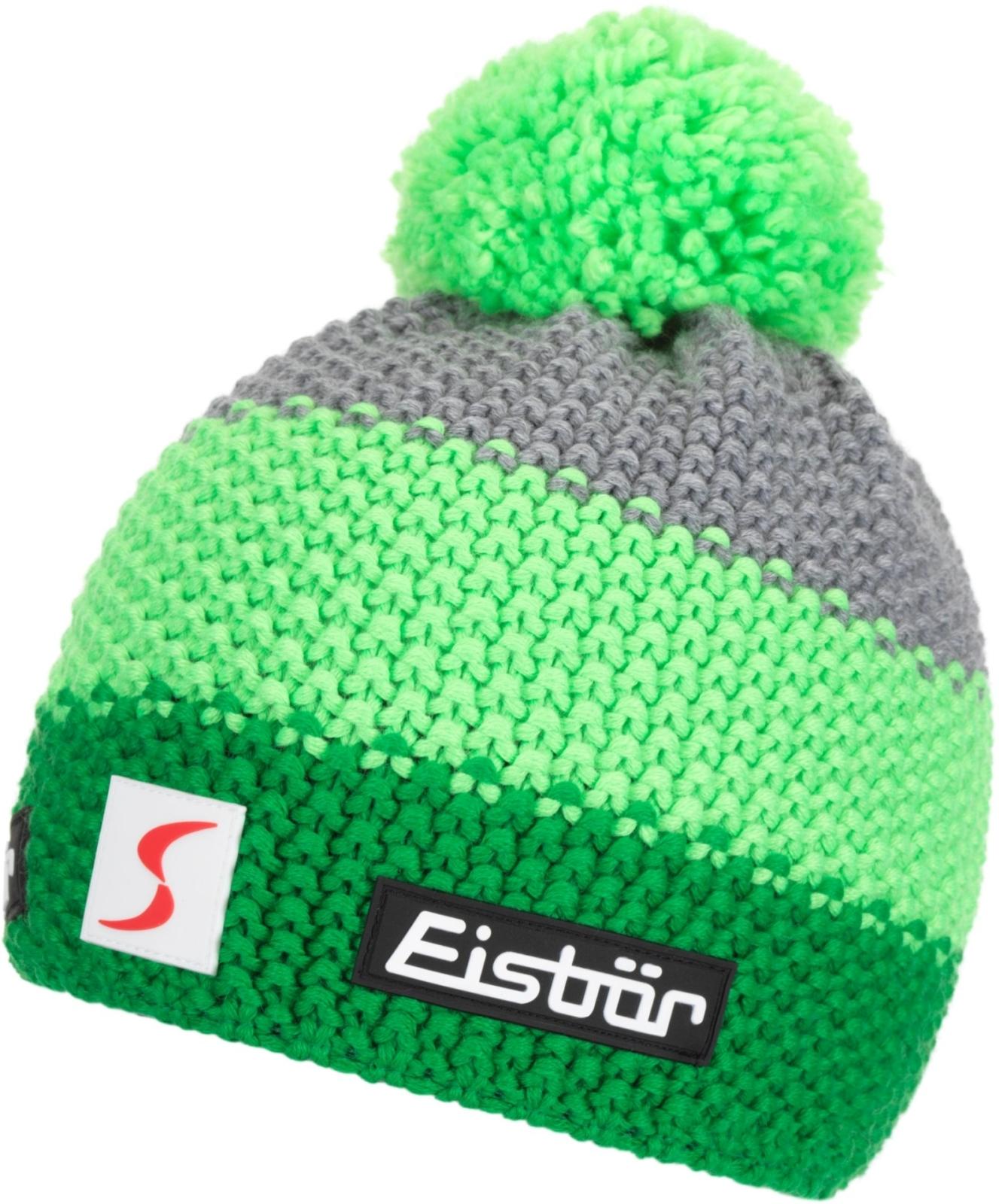 3c9c9f480b2 Dětská zimní čepice Eisbär Star Neon Pom MÜ SP kids -  electric lightgreen graumele
