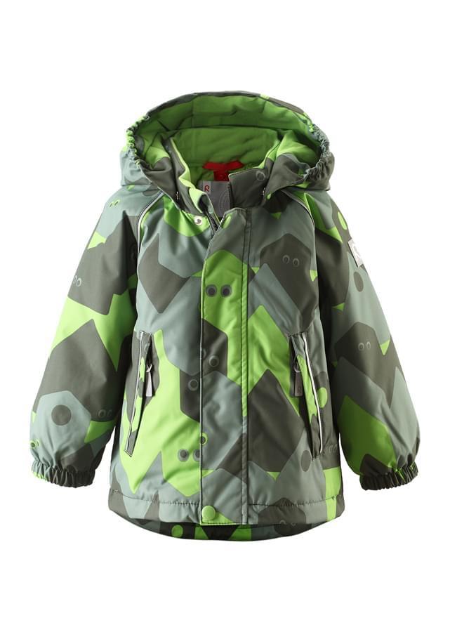 3237e691b Dětská membránová bunda Reima Pirtti - Forest green - Skibi Kids