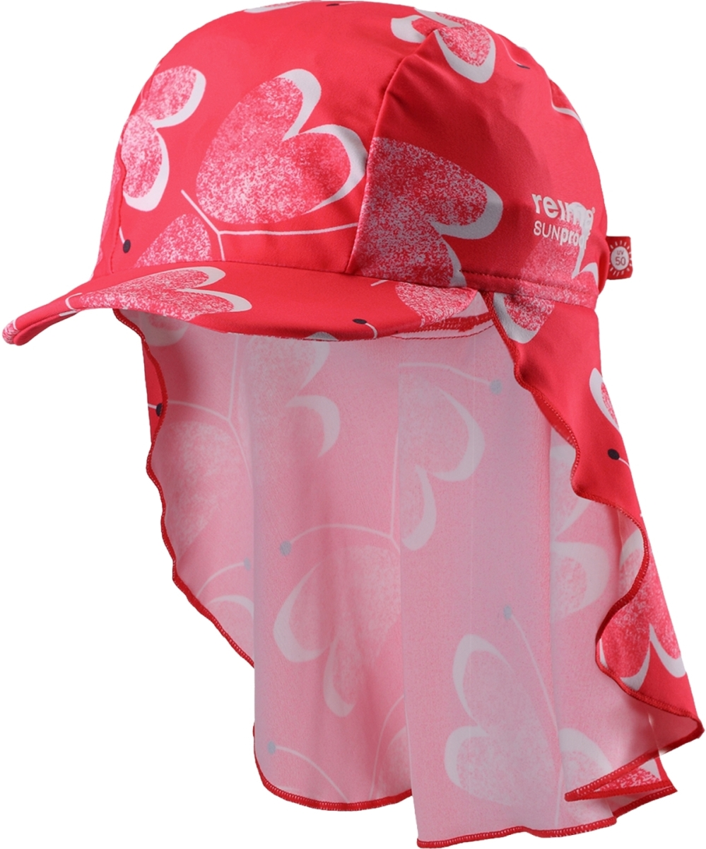 2838051a5ad Dětská UV čepice proti slunci Reima Octopus - Bright red - Skibi Kids