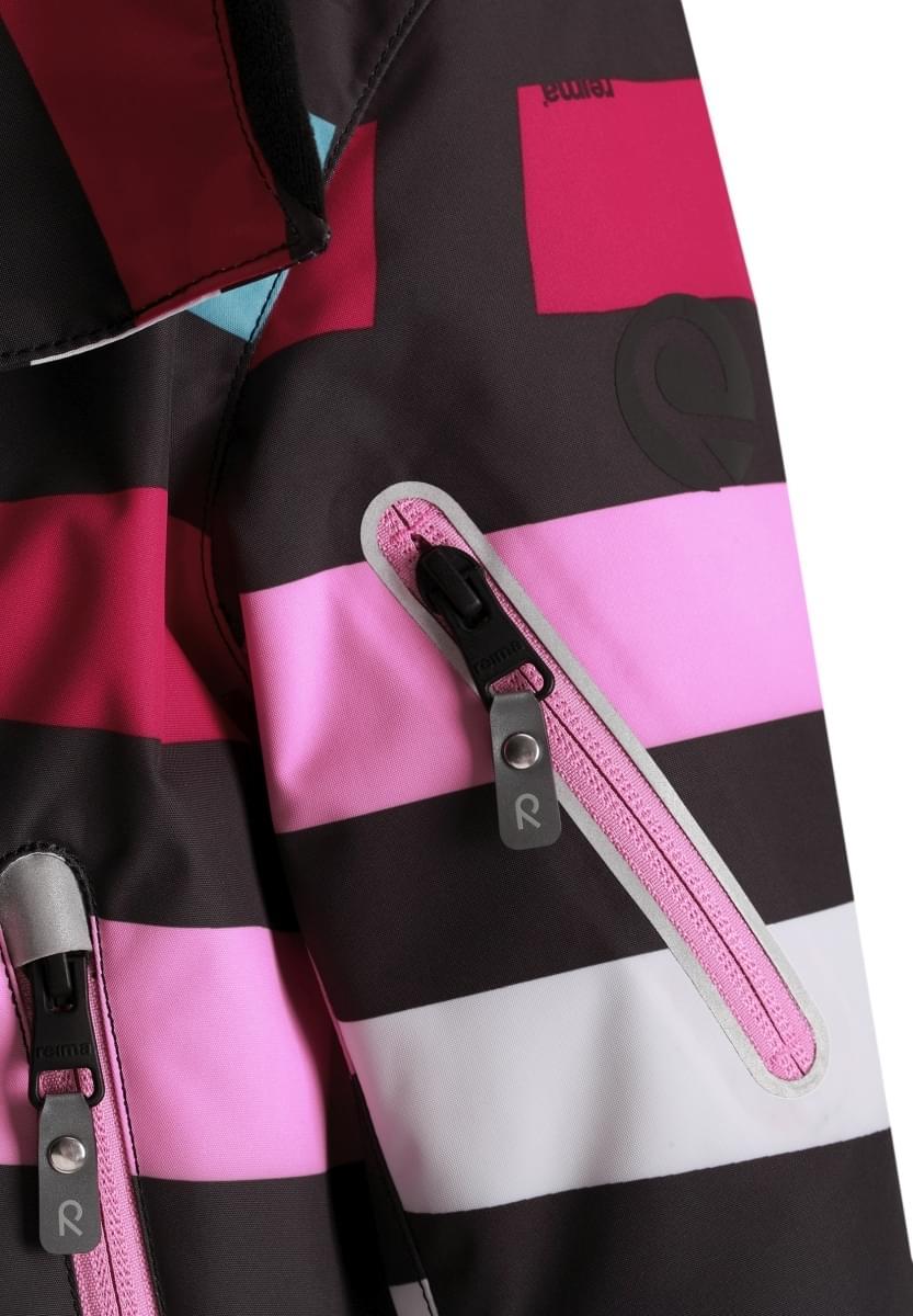 336334119bc Dětská zimní bunda Reima Roxana - Berry stripes - Skibi Kids