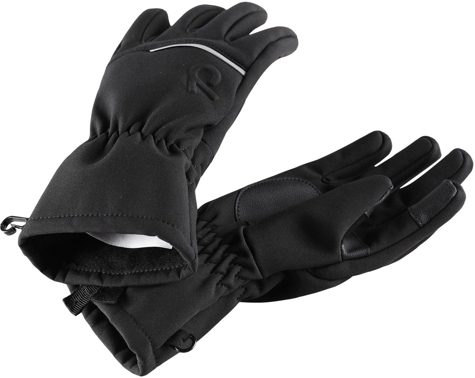 Dětské softshellové rukavice Reima Eidet - black - Skibi Kids bd1d0363b8