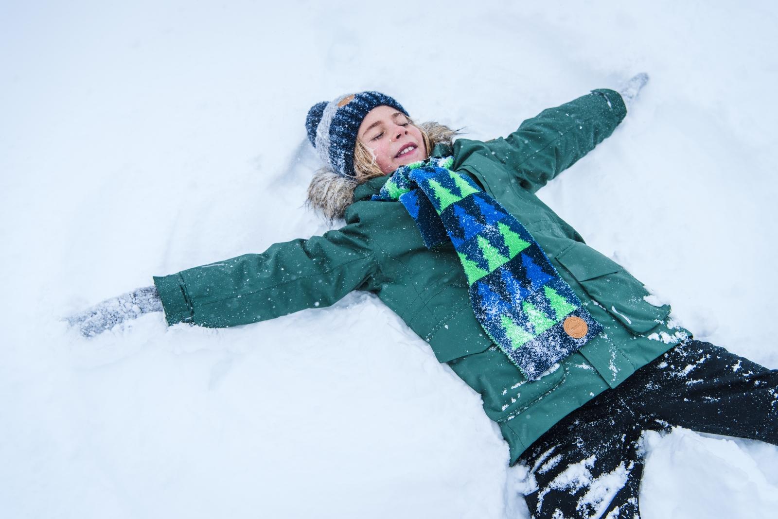 7a535953180 Dětská šála Reima Snowman - fresh green - Skibi Kids