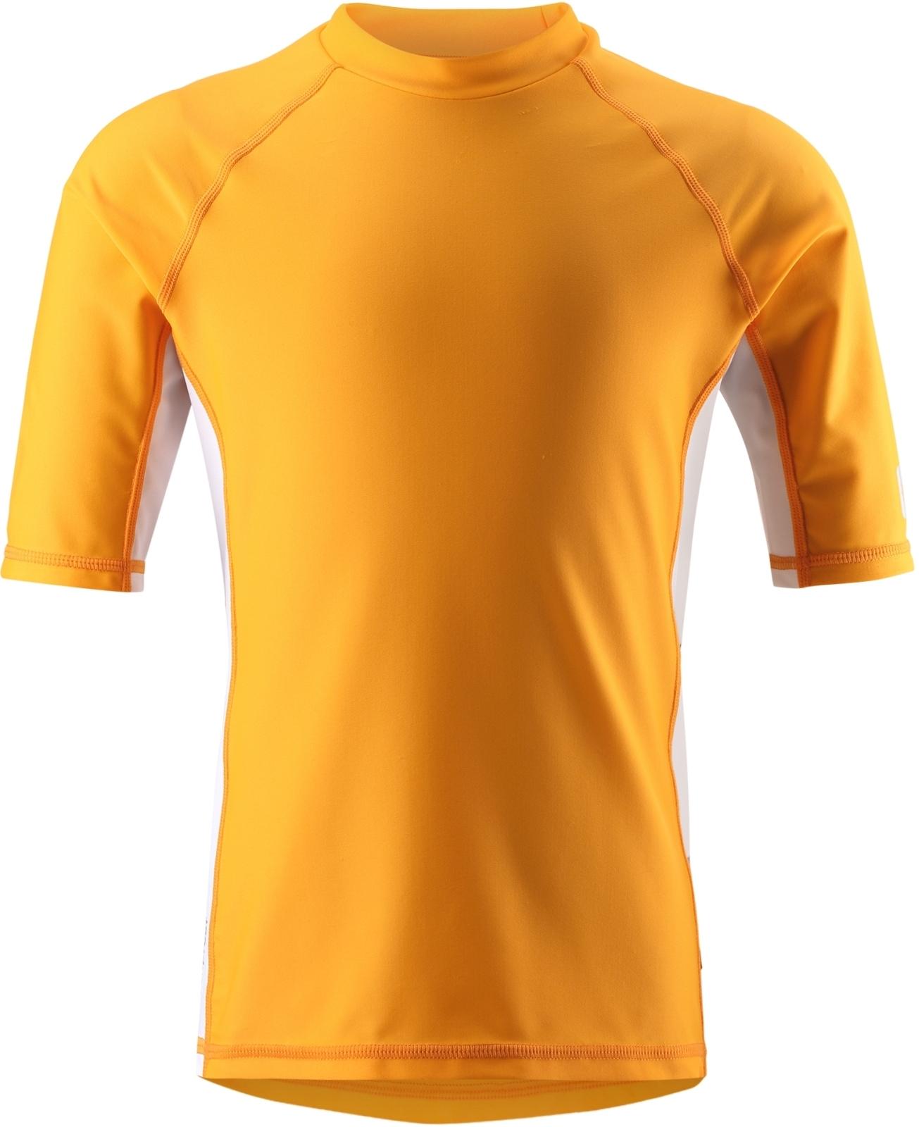daf328754e8 Dětské UV triko s krátkým rukávem Reima Fiji - mango - Skibi Kids