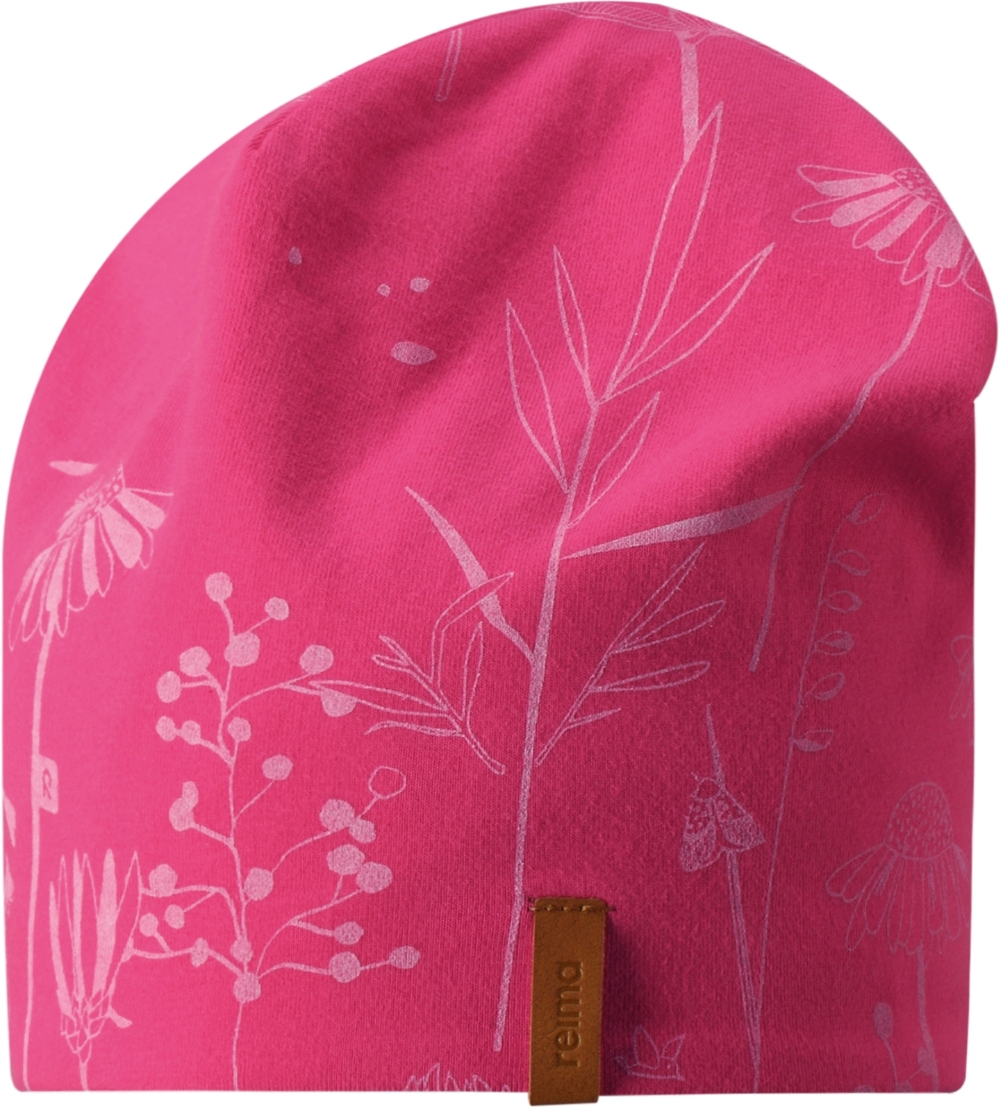 Dětská oboustranná čepice Reima Tanssi - candy pink - Skibi Kids 8a6f63052b
