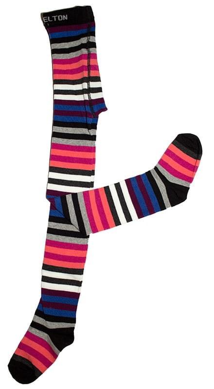 73f0a0a5032 Dívčí punčocháče Melton Colour line - black color - Skibi Kids