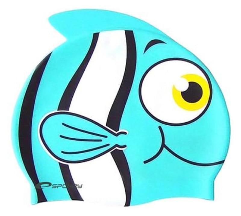 6686bb5d688 Dětská plavecká čepice Spokey Ryba - modrá - Skibi Kids