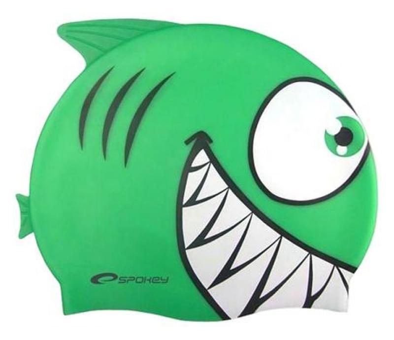 5ab2f2f71f6 Dětská plavecká čepice Spokey Žralok - zelená - Skibi Kids