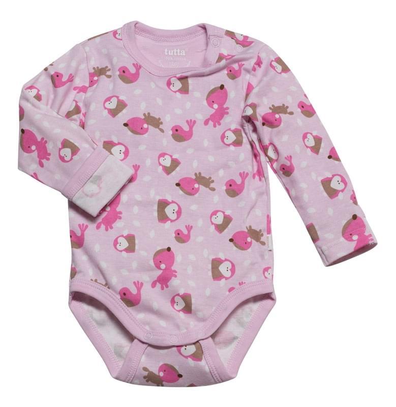 ee9fe6045962 Dětské body s dl. rukávem Tutta Baby - pink - Skibi Kids