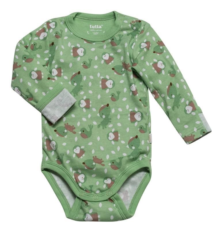 22b9cd8155c1 Dětské body s dl. rukávem Tutta Baby - corallic green - Skibi Kids