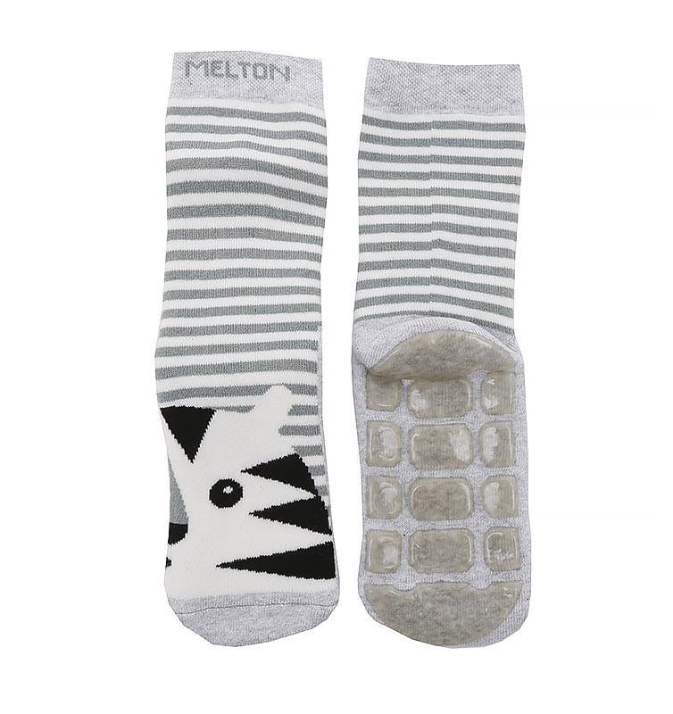 6e130ec6bf7 Dětské protiskluzové ponožky Melton Tiger ABS – Pearl Grey Mel ...