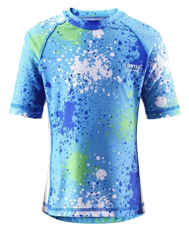 e3f42e7a Dětské tričko s UV ochranou Reima Fiji - mid blue - Skibi Kids