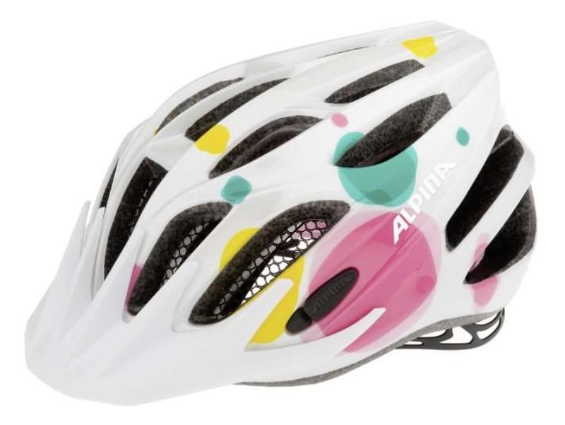 Dětská cyklistická přilba Alpina FB Jr. 2.0 - white dots - Skibi Kids b20acbc0451