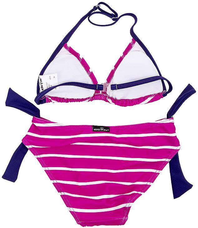 Dívčí dvoudílné plavky EleMar - Pink Purple White - Skibi Kids 147ba70f01