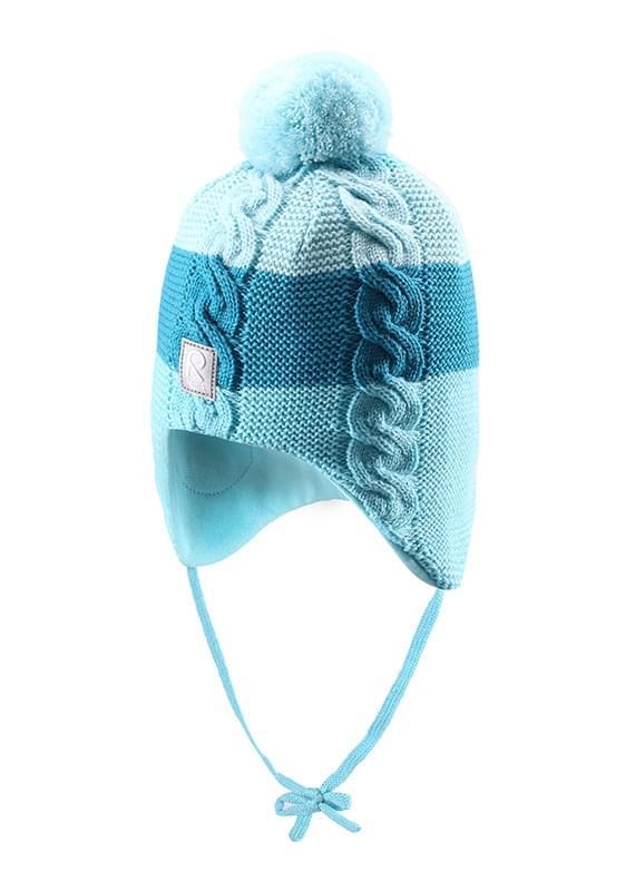 Dětská zimní čepice Reima Lullaby - turquoise - Skibi Kids 980476bfaa