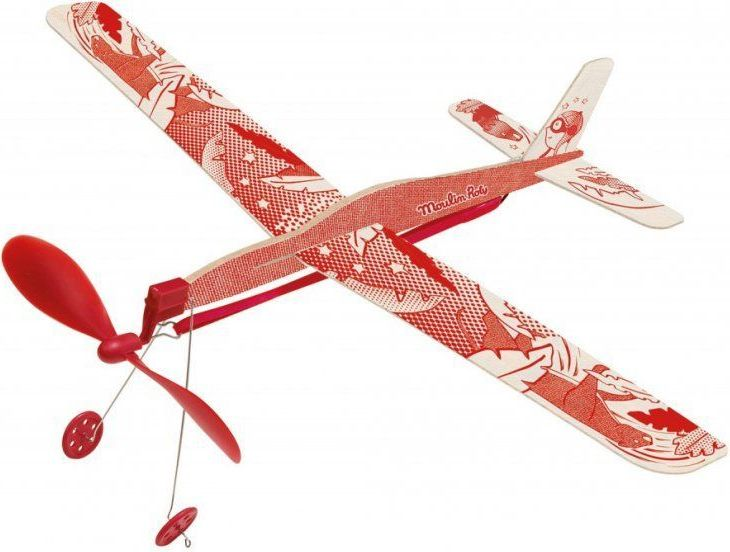 Moulin Roty Red rubber band plane
