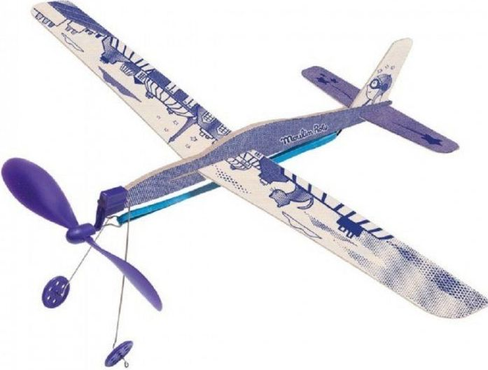 Moulin Roty Blue rubber band plane