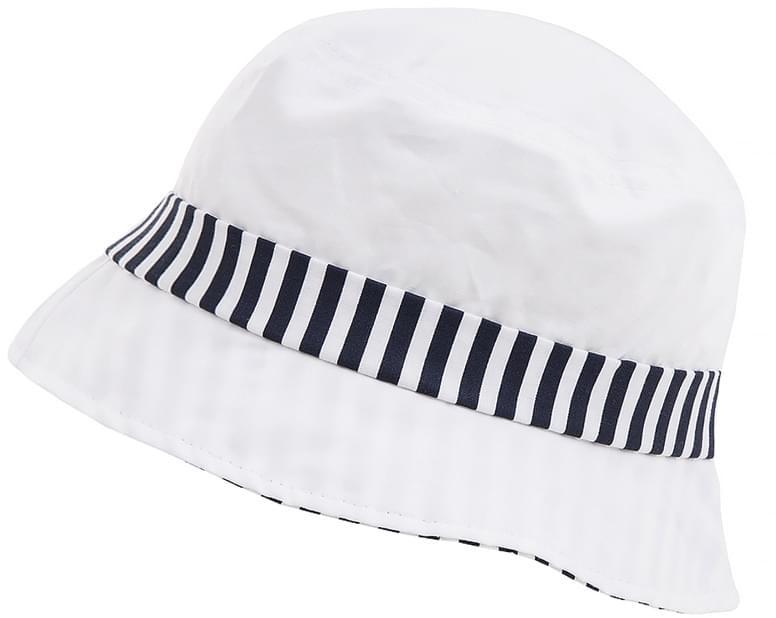 Dětský letní klobouček Maximo Mini – navy stripes - Skibi Kids 20d28c4835
