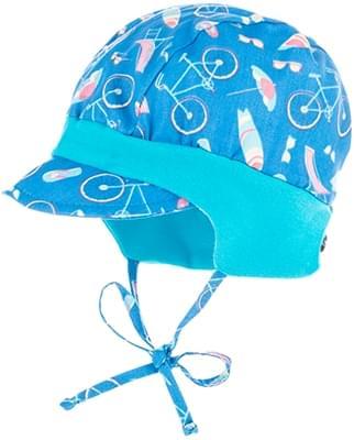 Dětská letní čepička s kšiltem Maximo BABY - blue cycle - Skibi Kids b0a3069aca