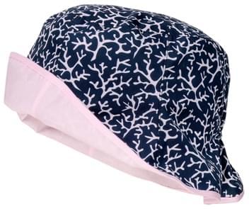 Dětský oboustranný klobouk Maximo Kids Girl Reversible - indigo pink ... 63232b31a9