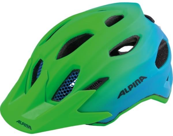 Dětská cyklistická helma Alpina Carapax Jr. Flash - green blue ... 30554d0311a