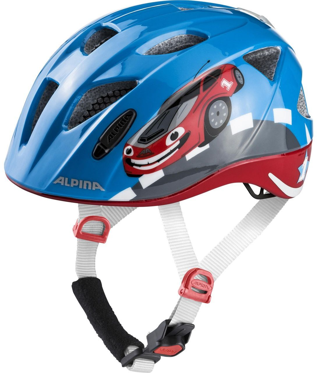 Dětská cyklistická helma Alpina Ximo Flash - red car - Skibi Kids 874516a7fd9