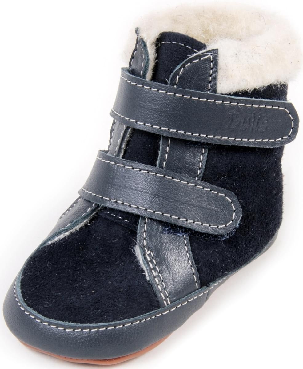 efdcddbc83b Dětské barefoot první botičky Dulis Baby Eco - tmavomodrá pohádka ...
