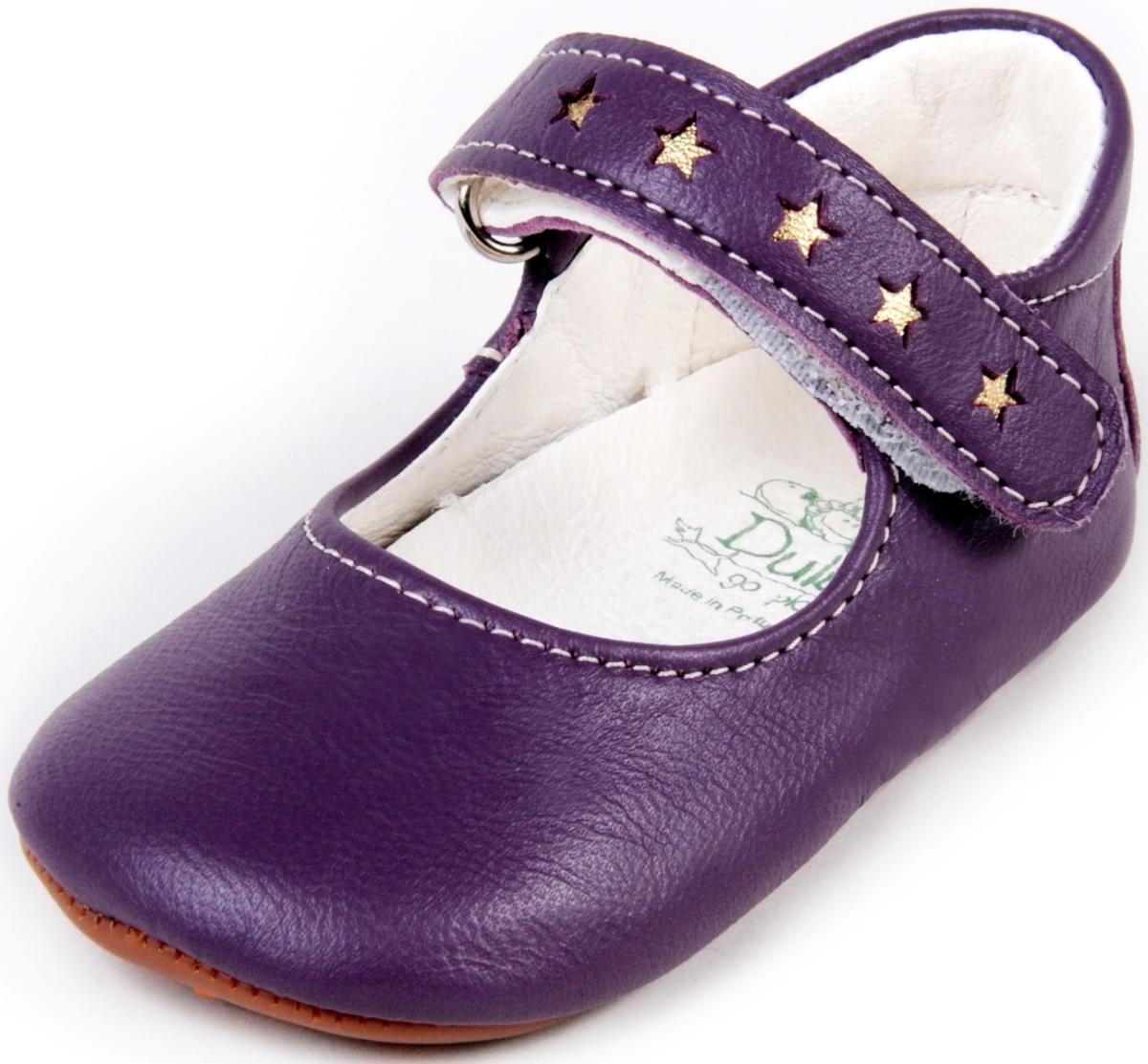 0d4e85396b0 Dětské barefoot první botičky Dulis Baby Eco - fialový bál - Skibi Kids