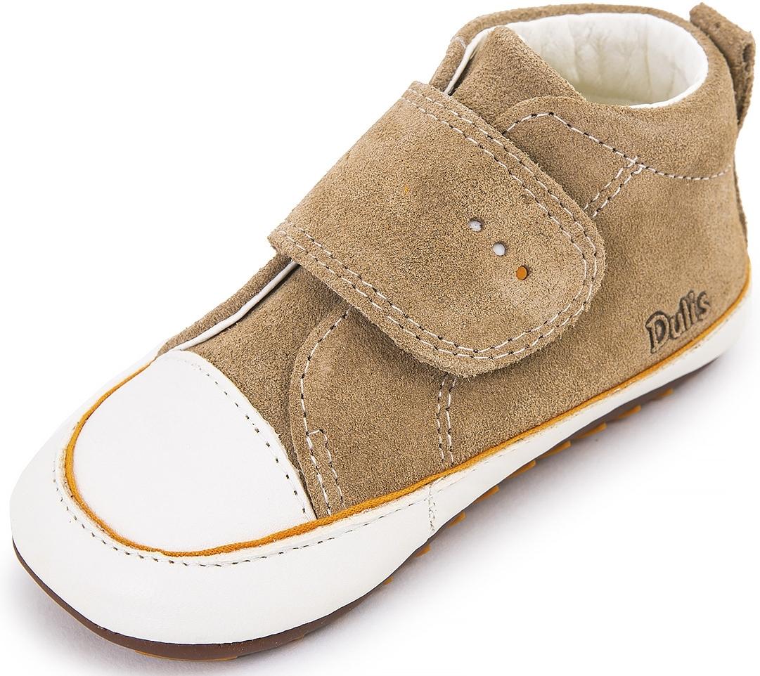 20664d04b53 Dětské barefoot první botičky Dulis Baby - krémové překvapení ...