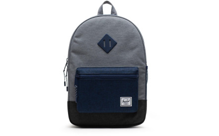 Dětský batoh Herschel Heritage Youth - mid grey crosshatch medieval blue  crosshatch black crosshatch 0d16715b57