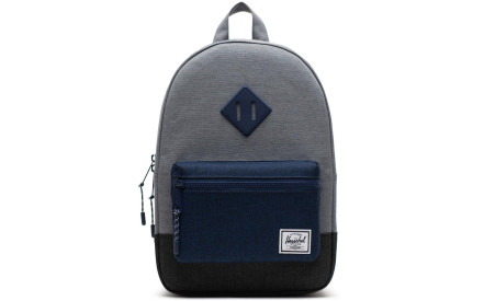 Dětský batoh Herschel Heritage Kids - mid grey crosshatch medieval blue  crosshatch black crosshatch 9c67087db2