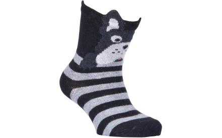 c6425dc9d0e Dětské ponožky Melton Babysock Bulldog with Ears - black