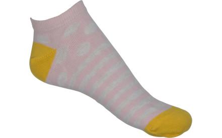 1656394a008 Dětské ponožky Melton Dots   Stripes - wild rose