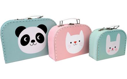 Sada 3 kartonových kufříků Panda 8092846709