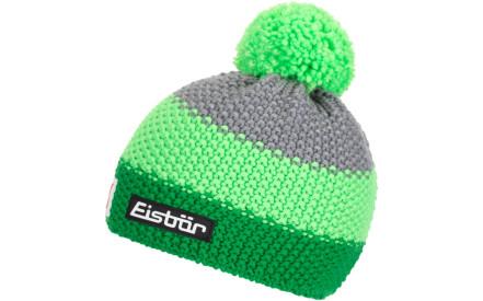 Dětská zimní čepice Eisbär Star Neon Pom MÜ SP kids -  electric lightgreen graumele 0f0956114d