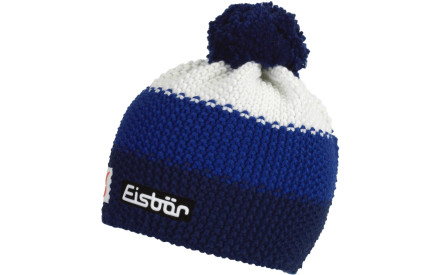 Dětská zimní čepice Eisbär Star Pompon MÜ SP kids - marine blitzblau white 9c24c0ce65