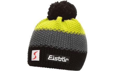 Dětská zimní čepice Eisbär Star Pompon MÜ SP kids - schwarz anthrazit lime c6447ea03c