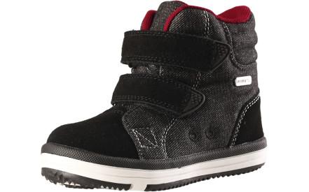Dětské membránové boty Reima Patter Jeans - black 7ab5848dc0