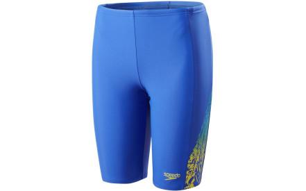 507b4a6c65 Chlapecké plavecké šortky Speedo Lightning Spritz Panel Jammer - amparo  blue citron turquoise